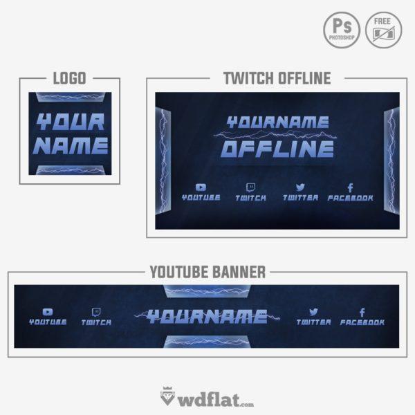 Lightning Brand – free template banner