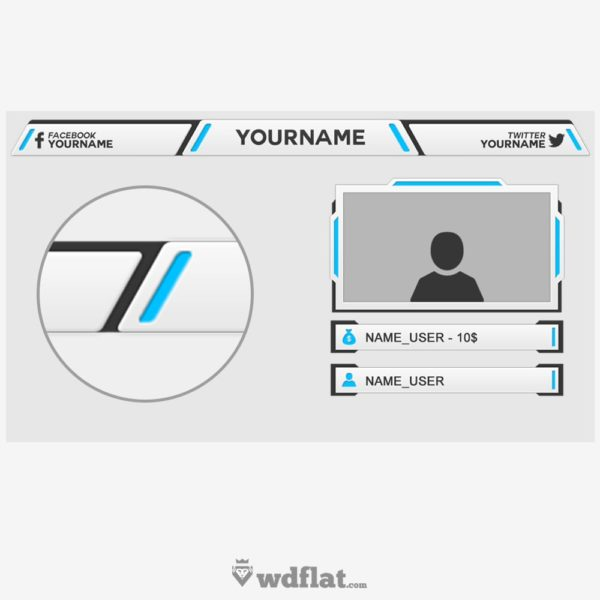 Lightning – preview Twitch Overlay PSD template FREE