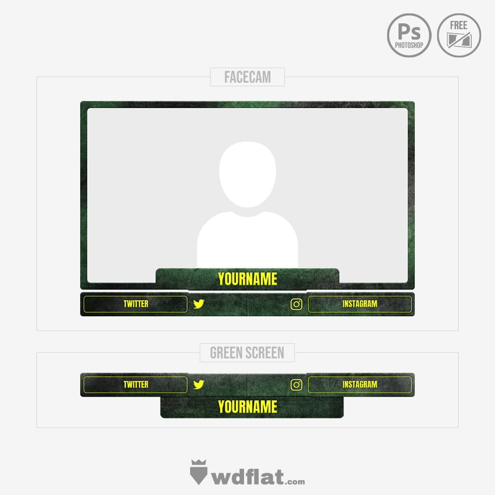Malice - webcam overlay template