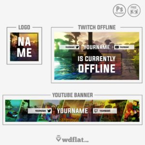 Minecraft - Logo, Youtube Banner and Twitch Offline