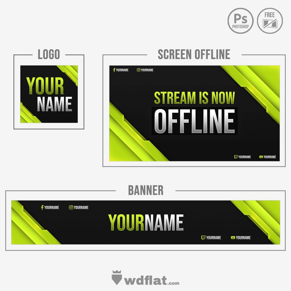 Necrolight banner, offline and logo template