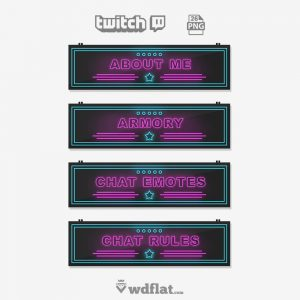 Neon Power - pack twitch panels
