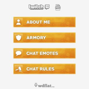 Orange Hysteria - twitch panels