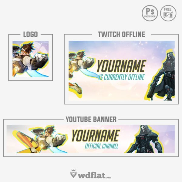 Overwatch Set – preview banner template
