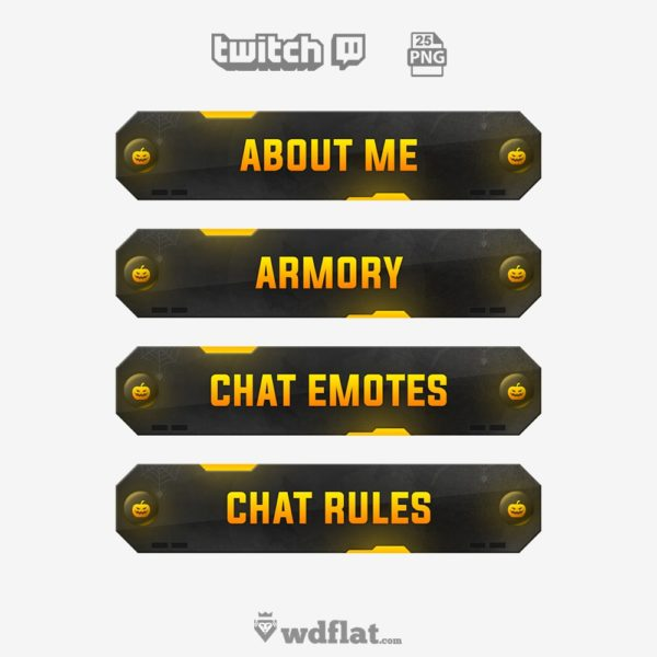 Panels Halloween – twitch template