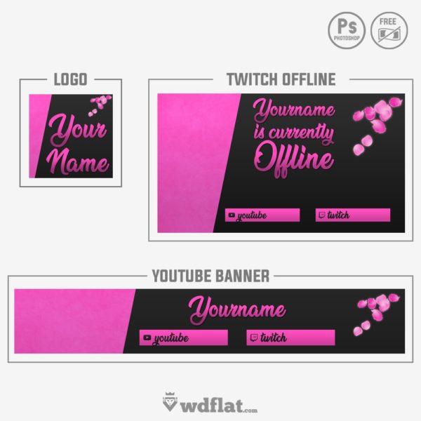 Pink Petals – banner for girls