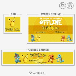 Pokemon Rebrand - banner and logo templates
