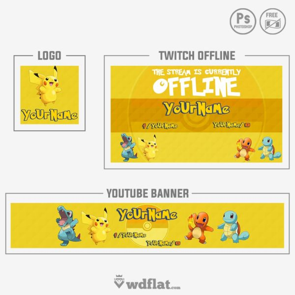 Pokemon Rebrand – banner and logo templates