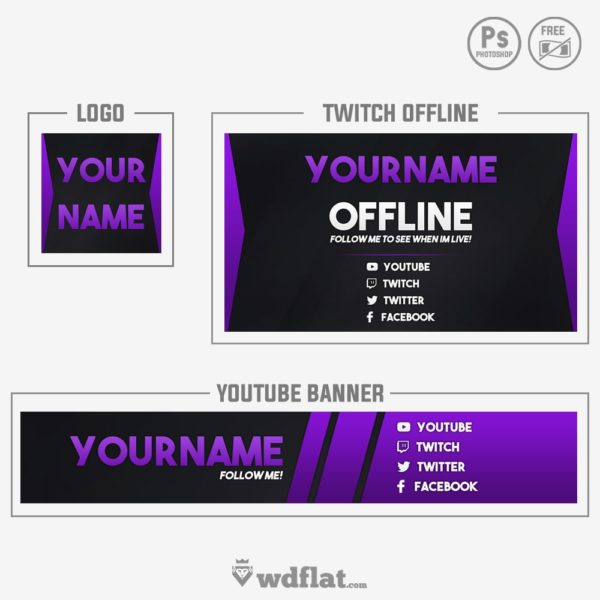 Purple Brand – free design youtube