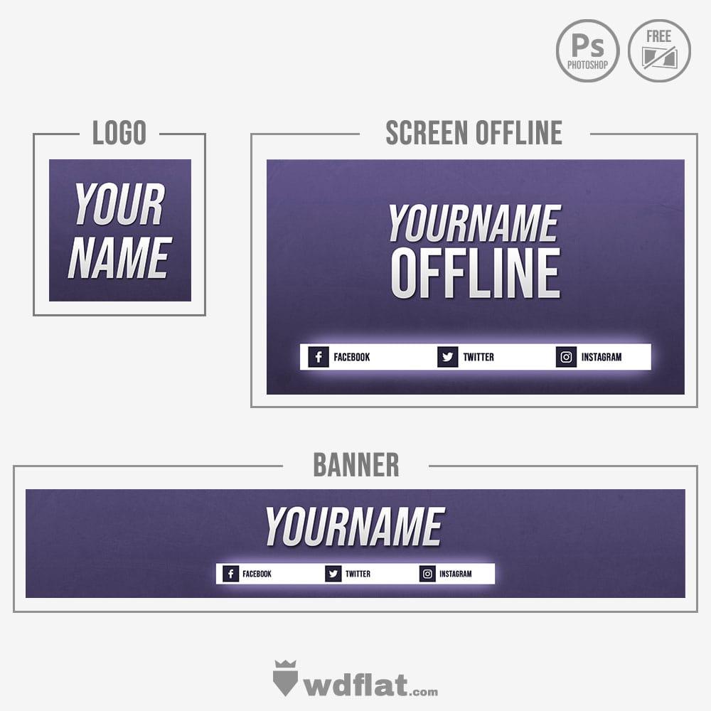 Purple Pixel - psd template free