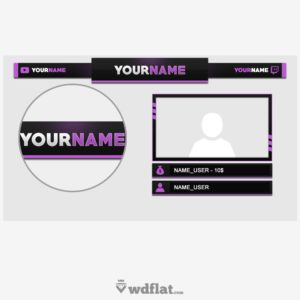 Purple - preview Twitch Overlay PSD FREE
