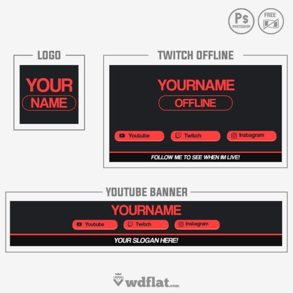 Red Flat – logo youtube