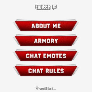 Red-Leather - preview Twitch Panels