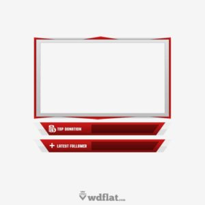 Red Metal - preview Template Facecam