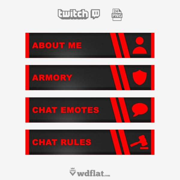 Red Noise – preview Twitch Template images