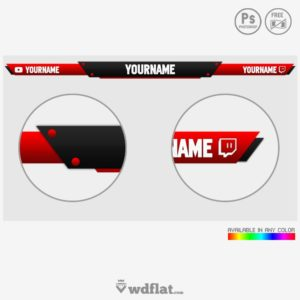 Reddy Stream - preview template photoshop