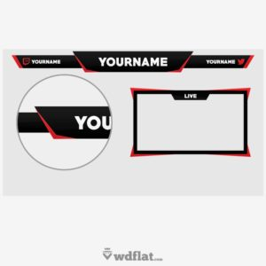 RednBlack - preview Twitch Overlay Template PSD