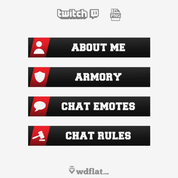 Redyent – Free Twitch Panels