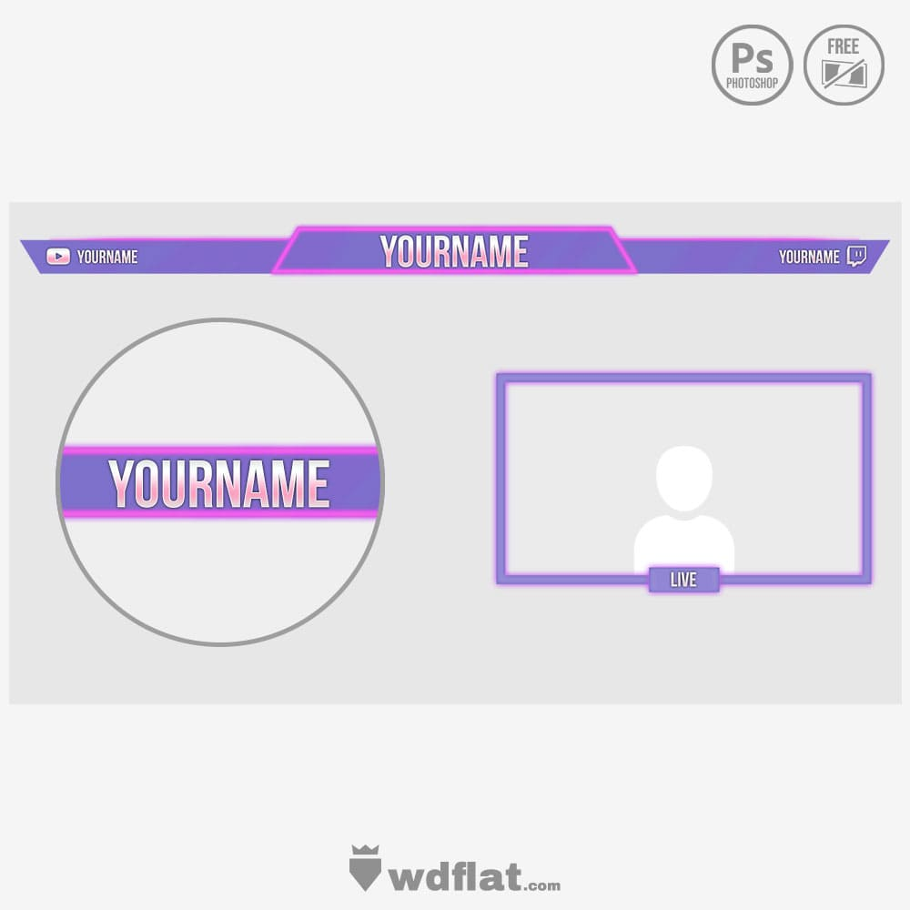 Retro Neon - template streaming free