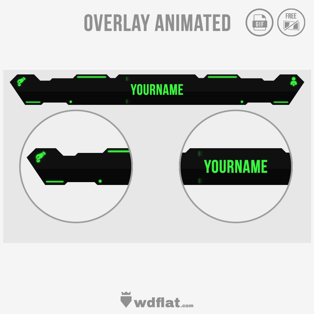 Robot Animated - template livestreaming