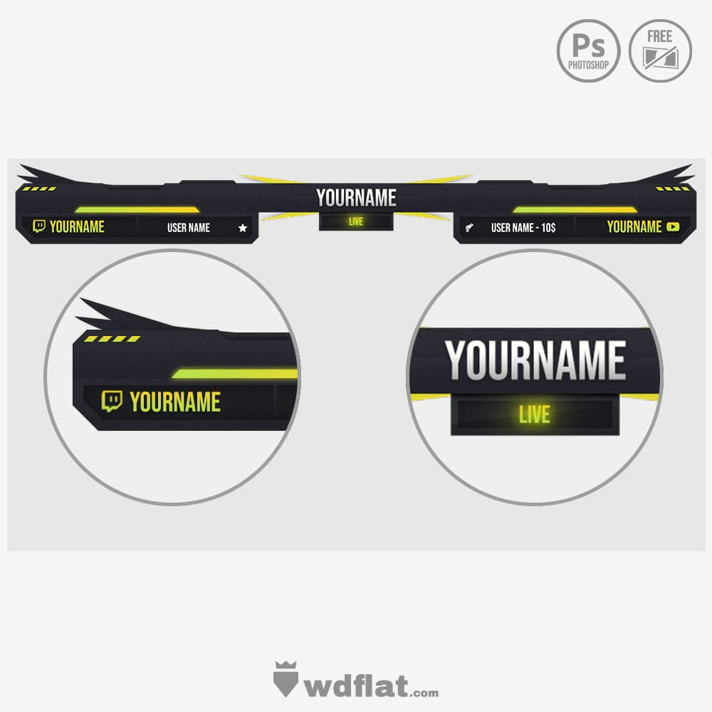 Ruthless streaming psd overlay