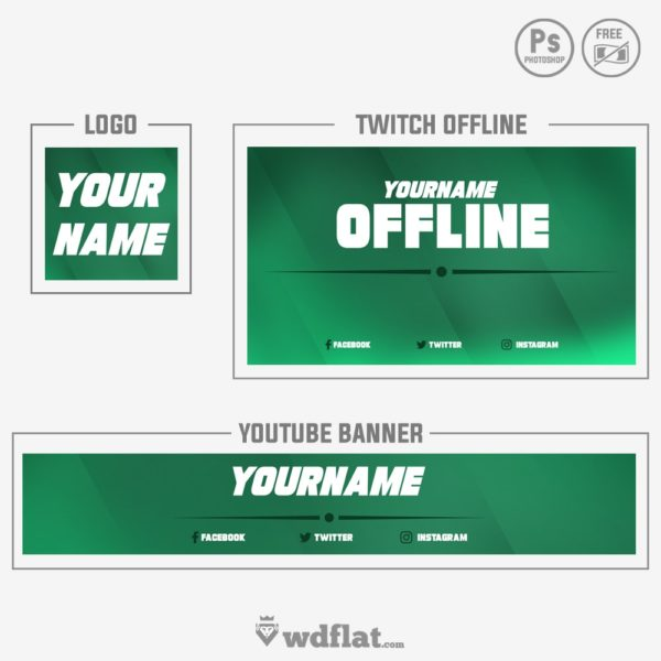 Shadow Line – template banner youtube