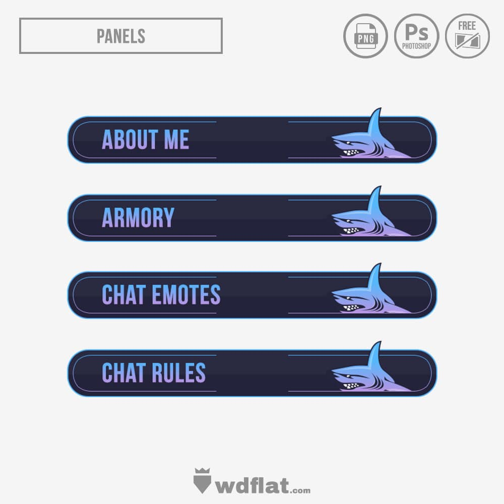 Shark stream panels