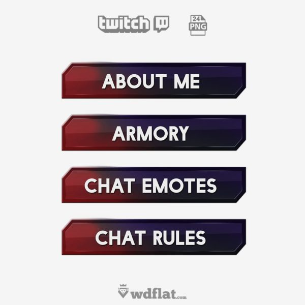 Shedred – preview Twitch Panels Elements