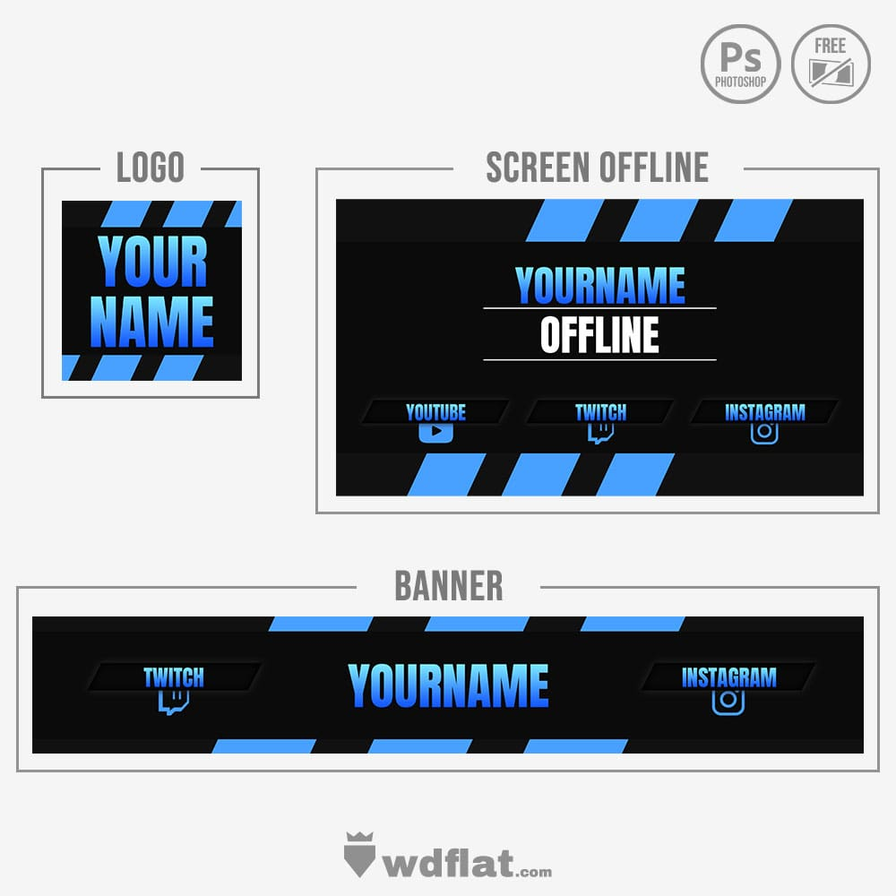 Simple Blue - banner template