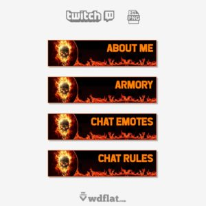 Skull Fire - preview twitch panels template