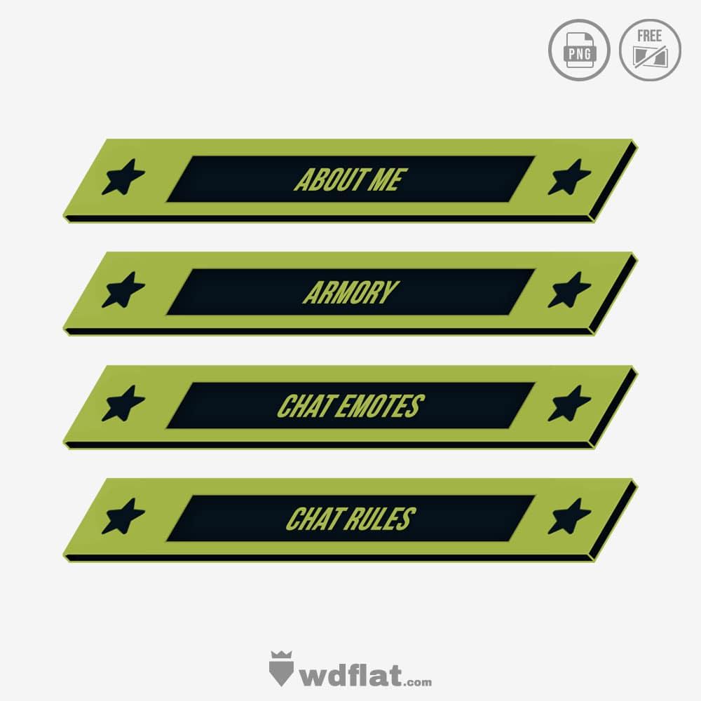 Skull-Flat designs template