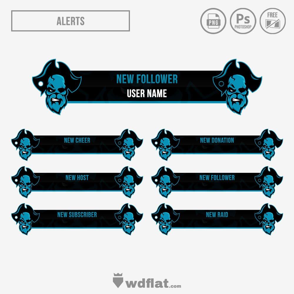 Skull-Pirate Stream Alerts