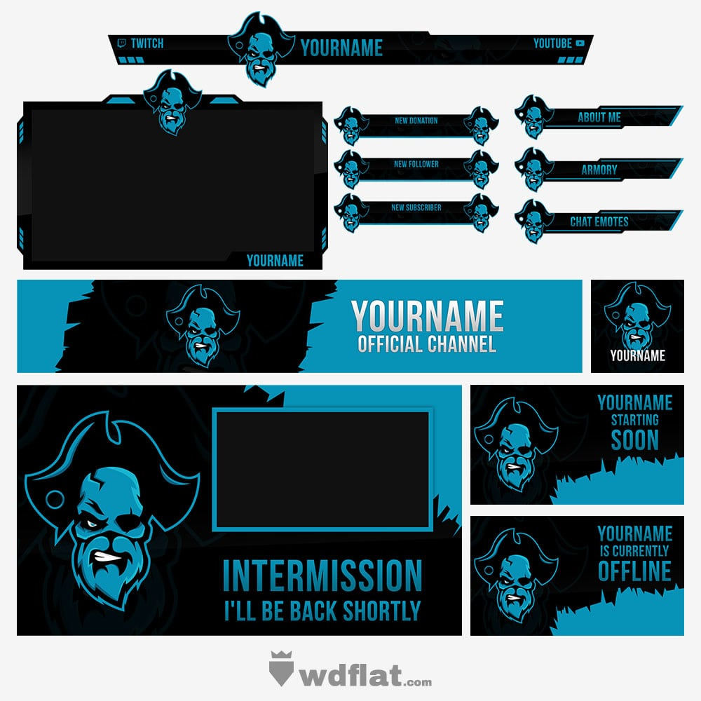 Skull-Pirate Stream Pack