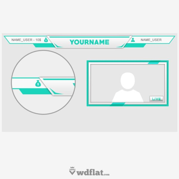 Skybase – preview Twitch Overlay PSD