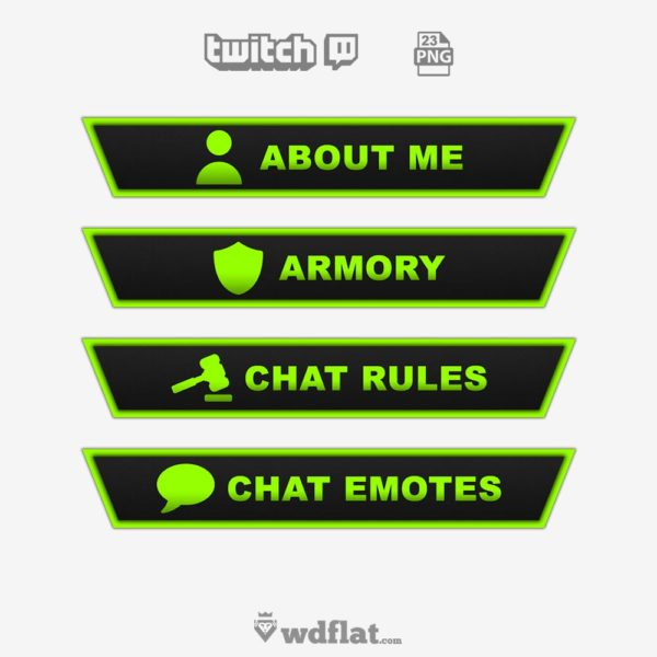 Smarald – preview Template Twitch Panels