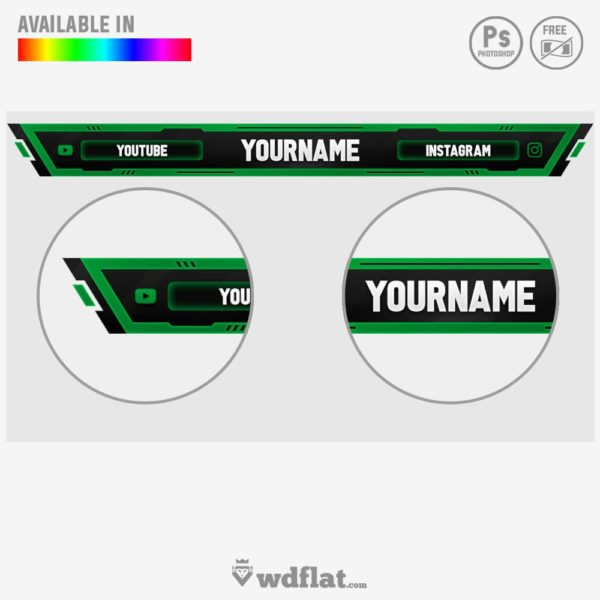 Spell King – streaming template psd