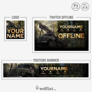Spintires - youtube banner template
