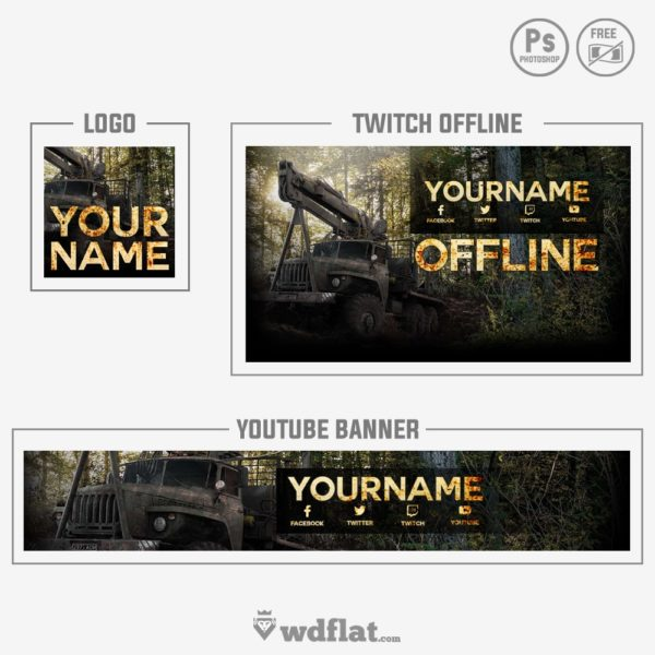 Spintires – youtube banner template