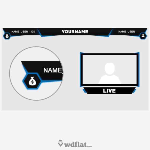 StartX – free twitch overlay template