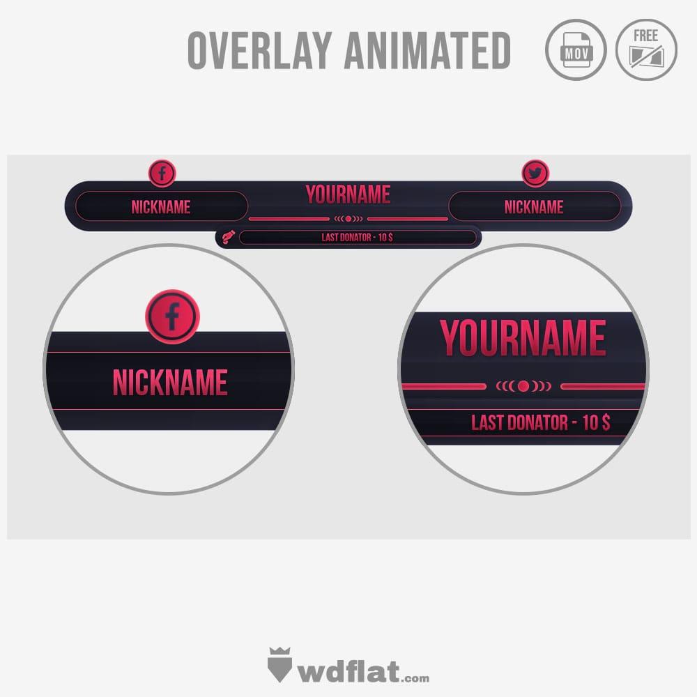 Sunshard overlay design animated free