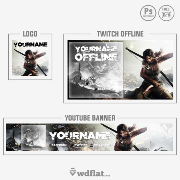 Tomb Raider – banner free template