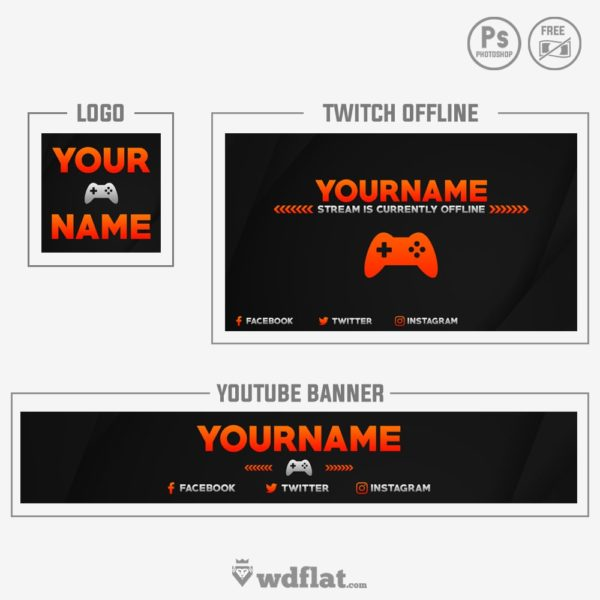 True Gamer – free youtube banner