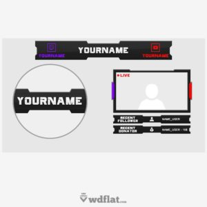 Twitch-Youtube - preview template overlay
