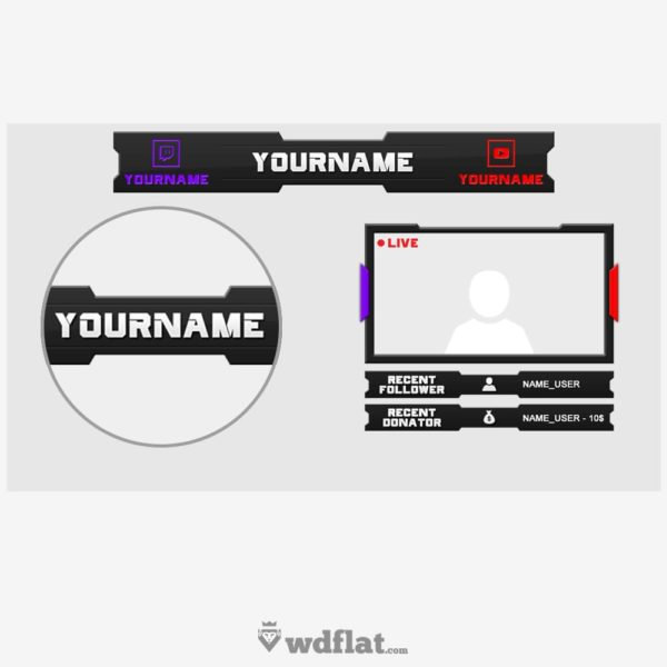 Twitch-Youtube – preview template overlay