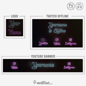 Wall Neon - banner template free