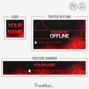 Wolf Smoke - youtube banner template