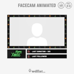 Xmas Animated - free facecam