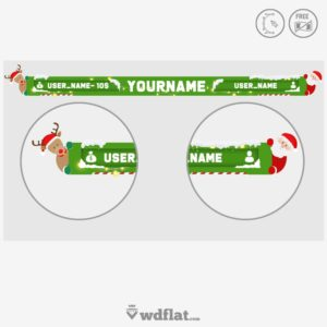 Xmas Overlay - online template editor