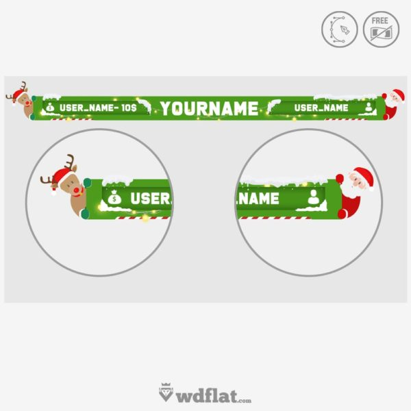 Xmas Overlay – online template editor
