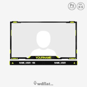 facecam twitch and youtube templates
